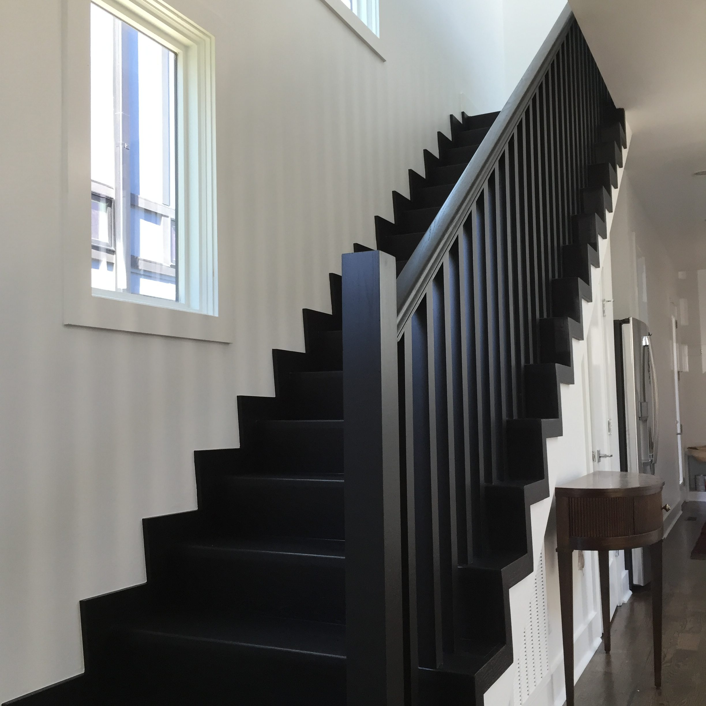 black white staircase shepard painting solutions