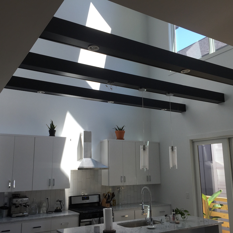 Black Kitchen Beams White Walls - Shepard Painting Solutions ...
